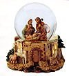 Holy Family Glitterdome plays Joy to the World by Fontanini