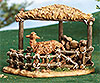 7.5 Inch Scale Fontanini Sheep Shelter