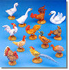 5 Inch Barnyard Birds  12 Pc Set by Fontanini