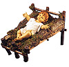 50 Inch Scale Wood Manger - Baby Jesus sold separately by Fontanini