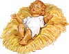27 Inch Scale Infant Jesus with crib by Fontanini