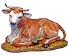 18 Inch Scale Seated Ox by Fontanini