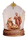 5 Inch Scale Holy Family with Lighted Surround by Fontanini