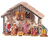 7.5 Inch Scale 8 Piece Lighted Nativity Set with Stable by Fontanini