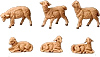 3.5 Inch Scale Sheep Set by Fontanini