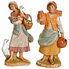 3.5 Inch Scale Deborah and Judith Villagers by Fontanini