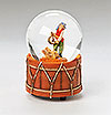 Little Drummer Boy with baby Jesus musical glitterdome by Fontanini
