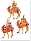 5 Inch Scale Three Kings on Camels Set by Fontanini