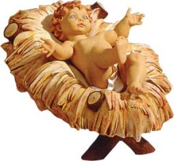 fontanini 50 inch scale wood manger crib baby jesus sold separately