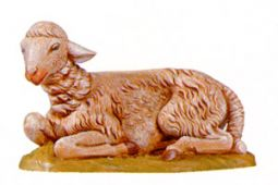 18 Inch Scale Seated Sheep by Fontanini