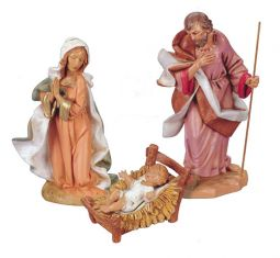 12 Inch Scale 3 Piece Holy Family Set by Fontanini